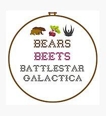 Bears Beets - Cross Stitch Photographic Print