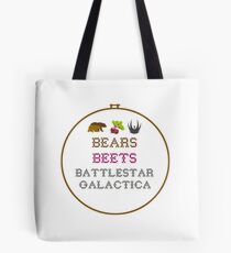 Bears Beets - Cross Stitch Tote Bag