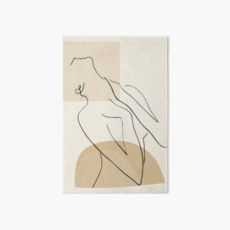 Abstract - Minimal Women Body Line art - Elegant - Modern Art - Transparent Background Art Board Print