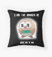 Bringer of Death Rowlet Throw Pillow
