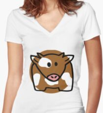 Farmyard Women's Fitted V-Neck T-Shirt