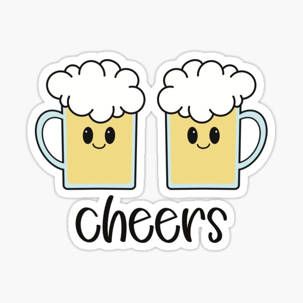 Kawaii Cheers Beer Sticker