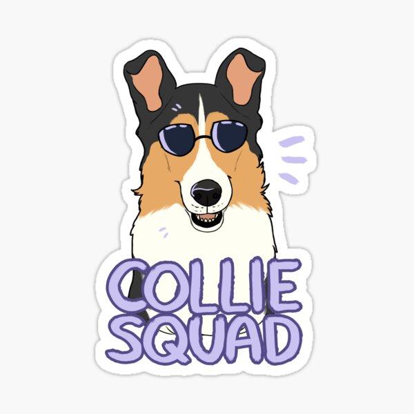 COLLIE SQUAD (smooth + black) Sticker