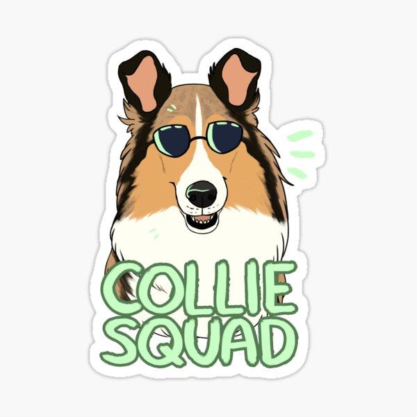 COLLIE SQUAD (rough + sable) Sticker
