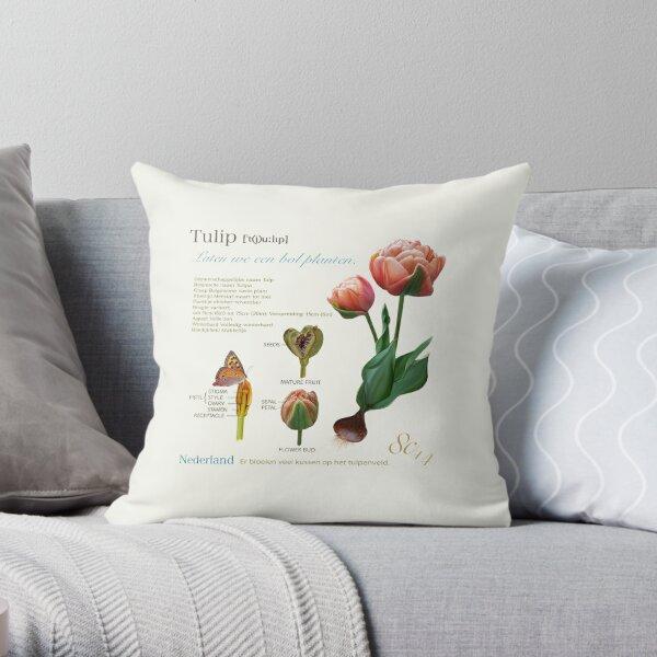 My Tulip. Throw Pillow