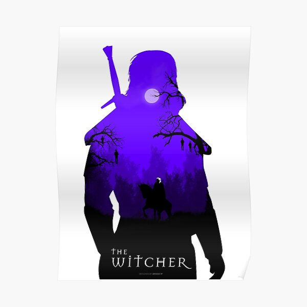 L'affiche minimaliste de The Witcher Poster