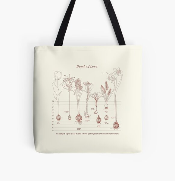 Gardening All Over Print Tote Bag