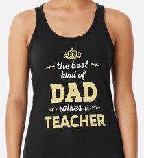 Camiseta con espalda nadadora El mejor tipo de papá plantea un maestro. Regalo del día del padre para papá