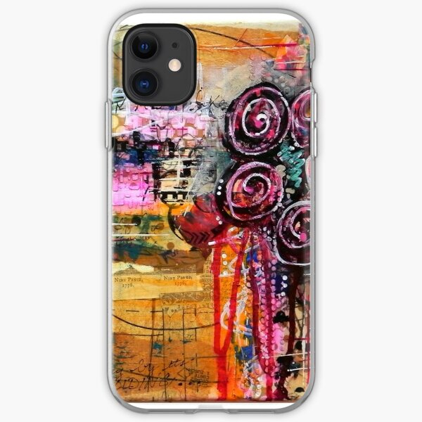 Abstract Weeping Floral iPhone Soft Case