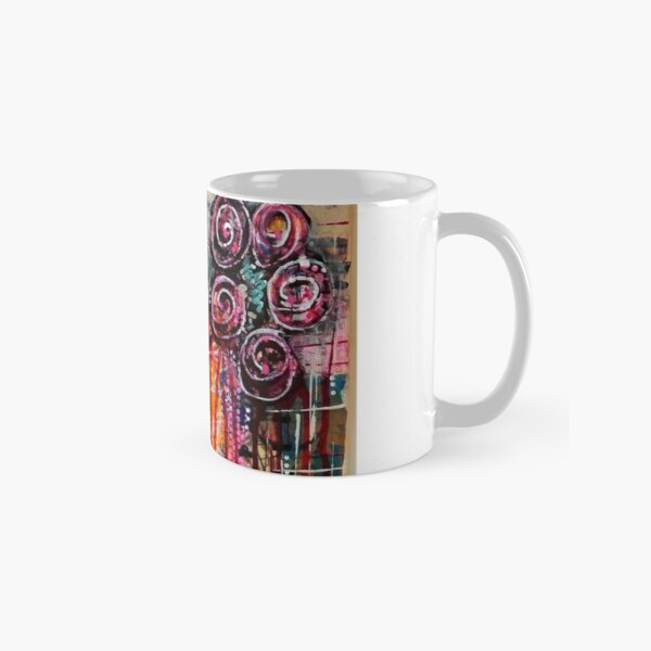 Abstract Weeping Floral Classic Mug