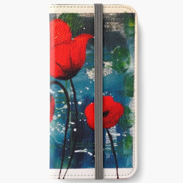 Pretty Poppies iPhone Wallet