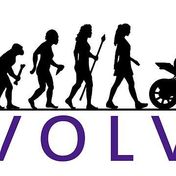 Frauen Motorrad Evolution von BeyondEvolved