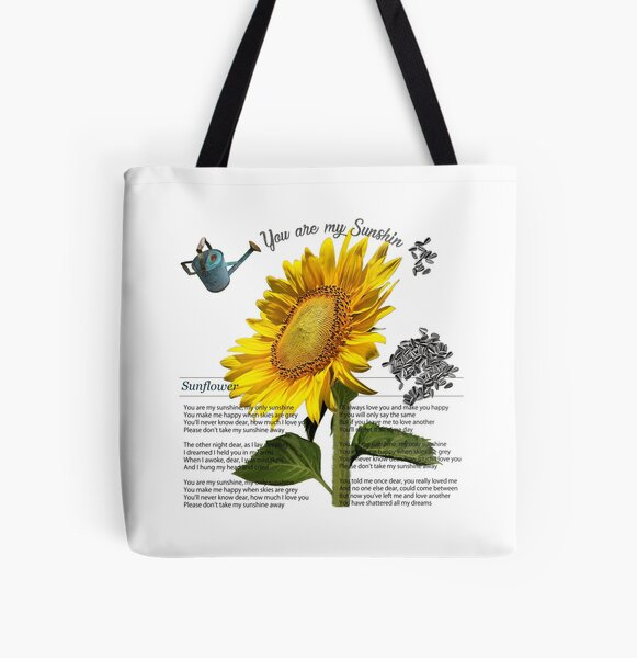 You are my sunshine, Sunflower. All Over Print Tote Bag