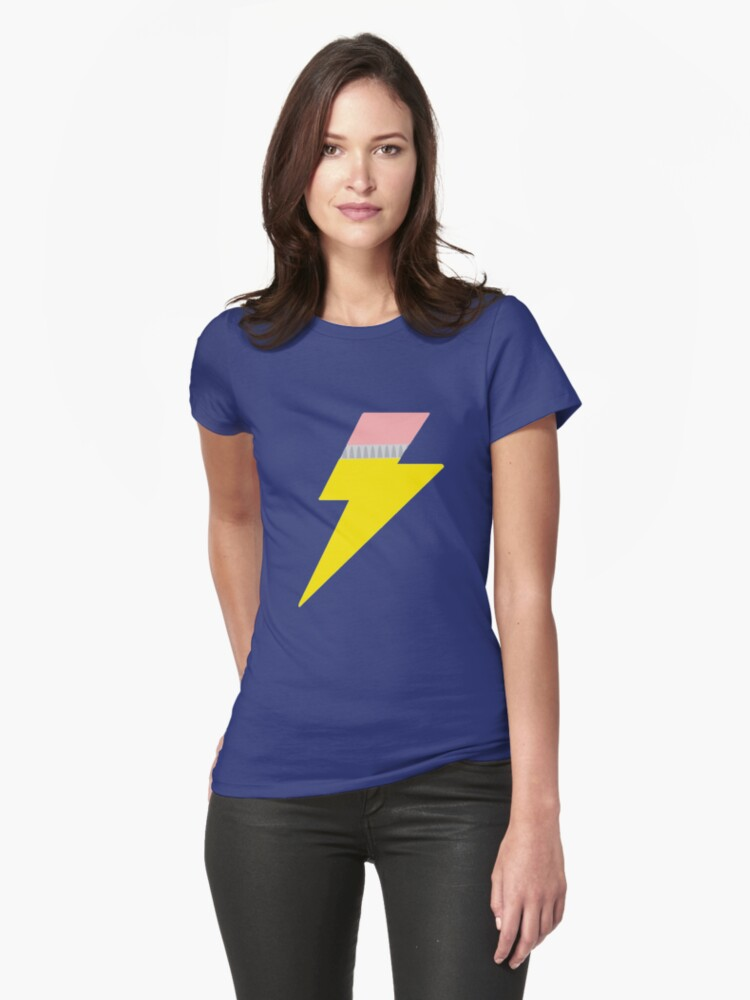 Pencil Bolt Womens T-Shirt Front
