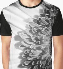 Black & White Pinhole Gerbera daisy Graphic T-Shirt