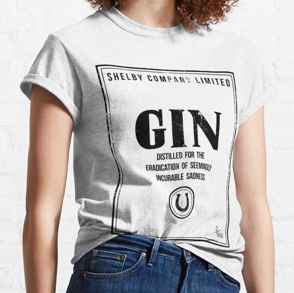 Camiseta Peaky BlindersShelby Company Limited Gin Label Peaky Blinders Camiseta clásica