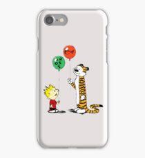 calvin and hobbes ballon iPhone Case/Skin