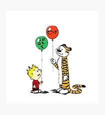 calvin and hobbes ballon Photographic Print