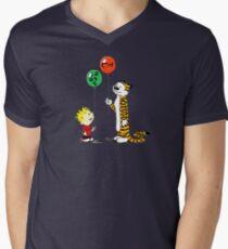 calvin and hobbes ballon Mens V-Neck T-Shirt