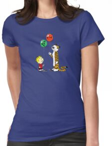 calvin and hobbes ballon Womens Fitted T-Shirt
