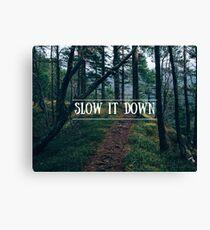 Slow It Down Canvas Print