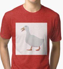 White goose on white background Tri-blend T-Shirt