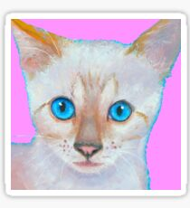 Snow Bengal cat painting Sticker