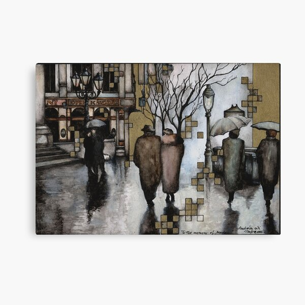 Impressions of the Andrassy street Canvas Print