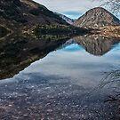 Reflections on Lake Selfe, Canterbury, New Zealand by Ubernoobz
