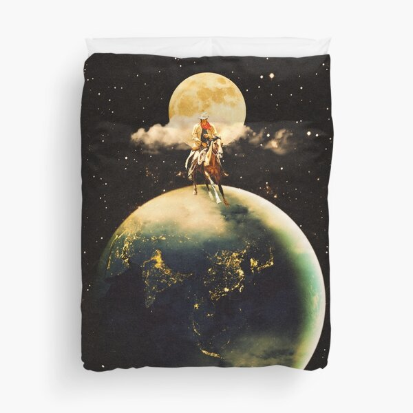 Cowboy In Space Duvet Cover