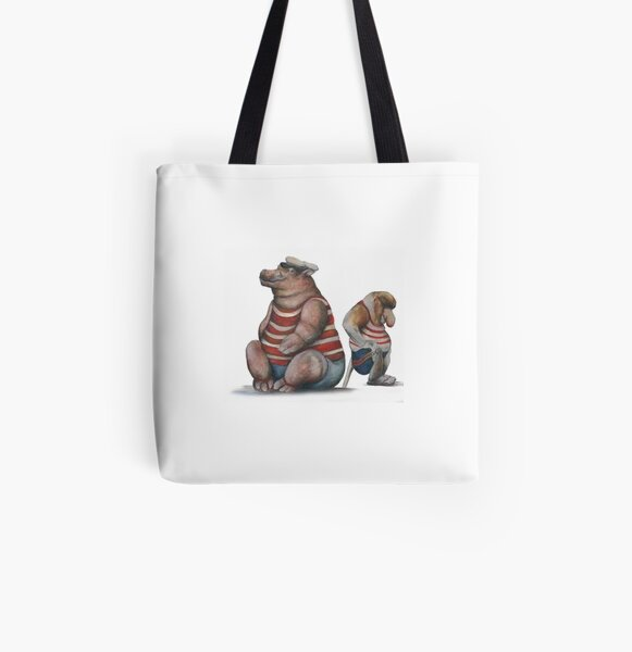 Guests of the Bath 2 All Over Print Tote Bag