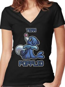 Team Popplio Women's Fitted V-Neck T-Shirt