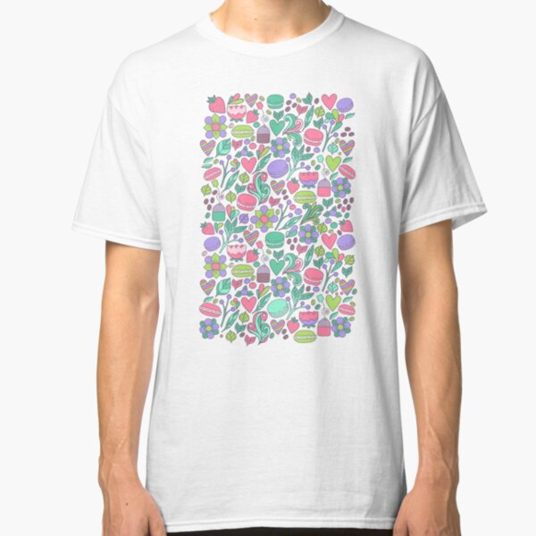 Macarons and flowers Classic T-Shirt