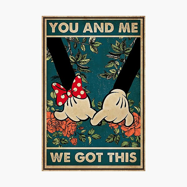 Vintage Mouse Couple You And Me We Got This  Photographic Print