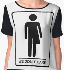 Trans Bathroom Symbol Chiffon Top