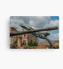 Military Barrage & Jet Aircraft Canvas Print