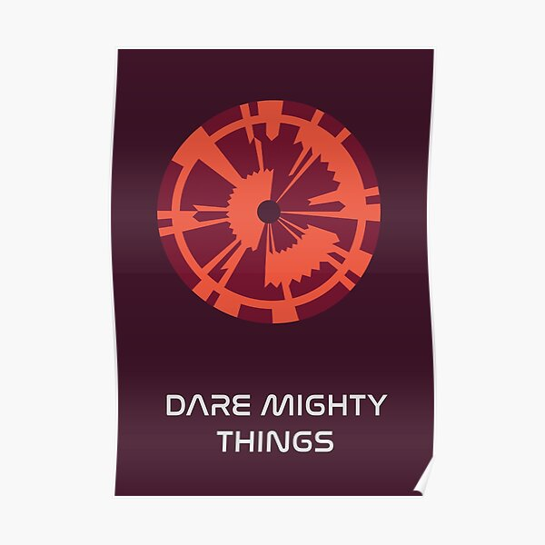 "JPL/NASA Perseverance Parachute ""Dare Mighty Things"" Poster #2 Poster"