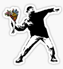 Banksy - Rage, Flower Thrower Sticker