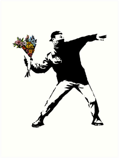Quot Banksy Rage Flower Thrower Quot Art Prints By