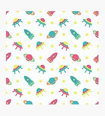 Kids cosmos cute pattern Photographic Print