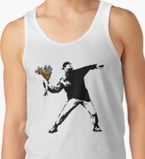 Camisetas de tirantes para hombre Banksy - rabia, lanzador de flores