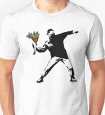 Banksy - Rage, Flower Thrower T-Shirt