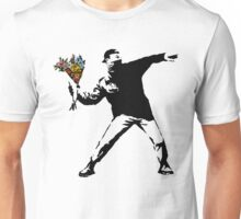 Banksy - Rage, Flower Thrower Unisex T-Shirt