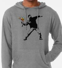 Banksy - Rage, Flower Thrower Lightweight Hoodie