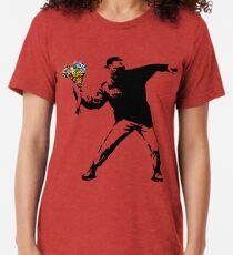 Banksy - Rage, Blumenwerfer Vintage T-Shirt