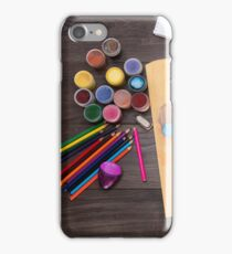 colored pencils paint brush  iPhone Case/Skin
