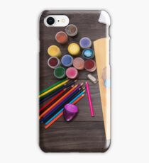 colored pencils paint brush  iPhone Case/Skin