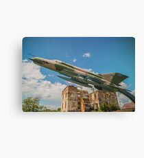 Military Jet Fighter Canvas Print