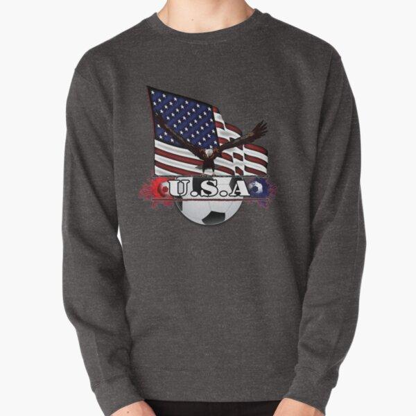 Patriotic USA Soccer Ball Pullover Sweatshirt