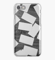 white sheets of paper scattered  iPhone Case/Skin